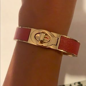 Coach bangle coral and gold